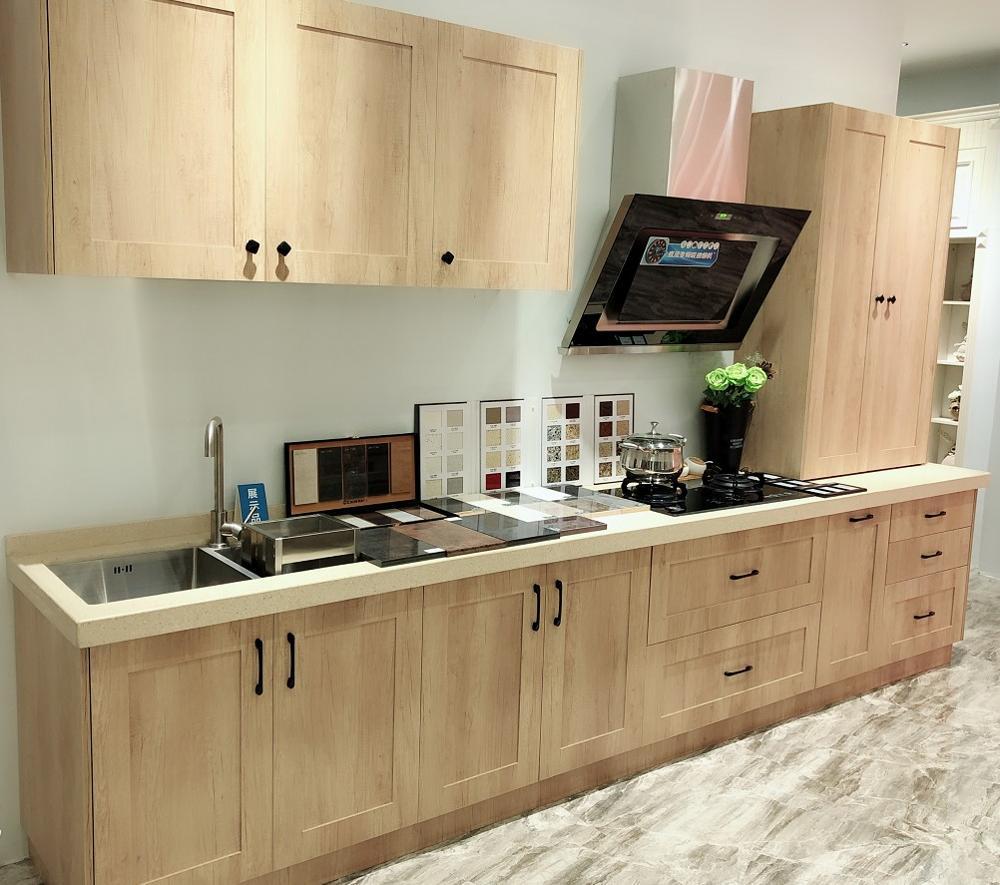 2020 Gaya Terbaru Kabinet Dapur Furniture Cina Pembuatan Desain Modern Kayu Lemari Dapur Blum Hardware Lemari Dapur Aliexpress