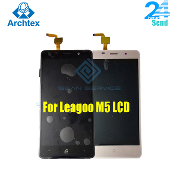 цена на For Leagoo M5 LCD Display Touch Screen Phone Digitizer Assembly Tested 5.0 inch 1280x720P Free shipping Stock