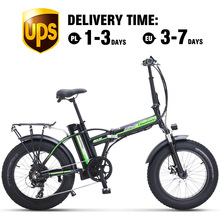 Electric Bike 500W4.0 Fat Tire Electric Bicycle  Beach Cruiser Bike Booster Bike 48v Lithium Battery Folding Mens Women's ebike