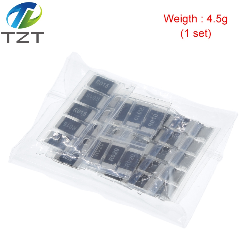 Завеса, 50 шт в наборе, сопротивления сплава 2512 SMD комплект образцов резистора, 10 kindsX5pcs = 50 шт. R001 R002 R005 R008 R010 R015 R020 R025 R050 R100