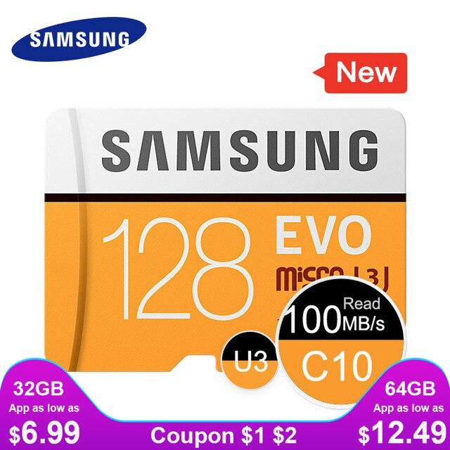 SAMSUNG Micro SD 32G 64G 128G 256 Thẻ MicroSD SDHC SDXC Max 95MS EVO 32GB 64GB C10 TF Trans Flash Thẻ Micro