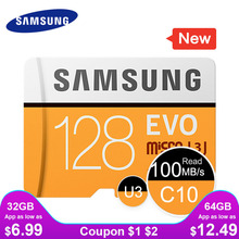 SAMSUNG 마이크로 SD 메모리 카드 32G 64G 128G 256 MicroSD 카드 SDHC SDXC 최대 95Ms EVO 32GB 64GB C10 TF Trans 플래시 마이크로 카드