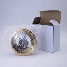 2Pcs Round  Bezel Skeleton Clock Watch Insert Quartz Movement Parts for Watchmaker