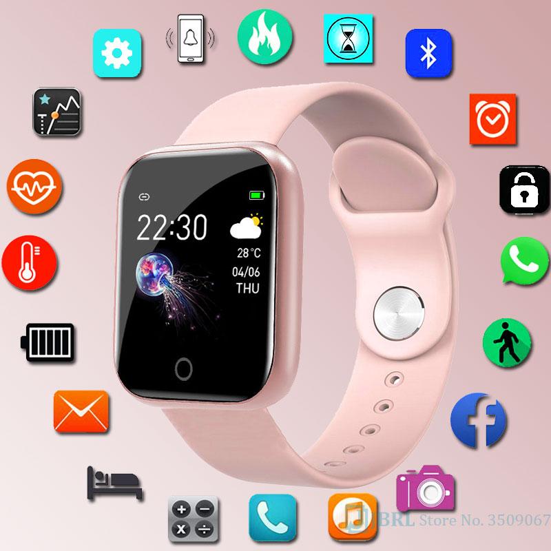 Yeni spor izle çocuk çocuk saatler kız erkek kol saati öğrenciler Bluetooth elektronik silikon kayış dijital kol saati