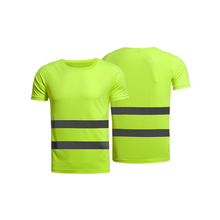 100% Polyester T Shirts Work SecurityProtective Clothing Safety Hi Vis Reflective T-Shirts for Men