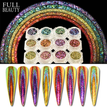 0.2g Peacock Holographic Chameleon Sequins Flakes on Nails Irregular Glitter Powder Dust Nail Art Decorations Pigment CHQC01 12