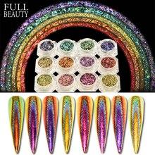 0.2g paon holographique caméléon paillettes flocons sur ongles irrégulier paillettes poudre poussière Nail Art décorations Pigment CHQC01 12