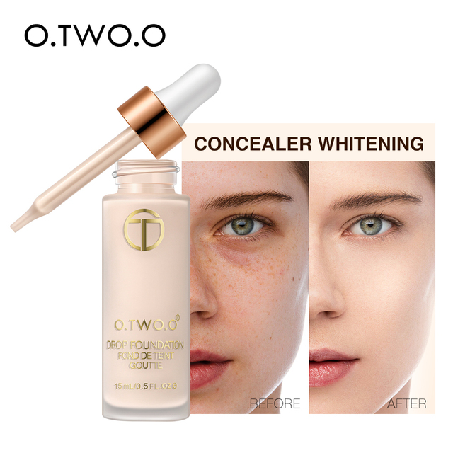 O.TWO.O Liquid Foundation Professional Makeup Base  Oil Free Full Coverage Concealer Long Lasting Liquid Foundation Cosmetics 4