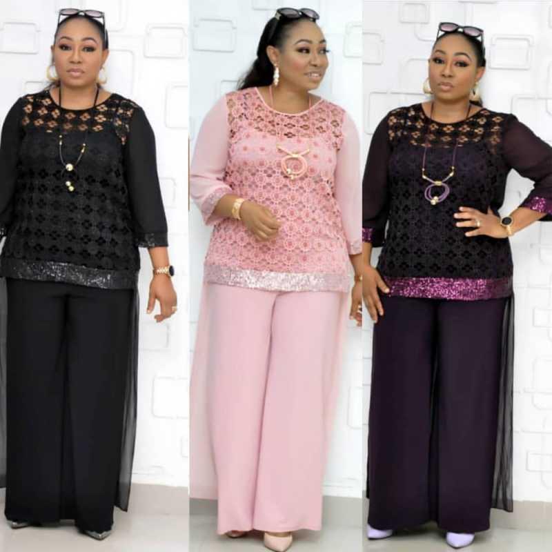3 חתיכה סטים אפריקאים סטים לנשים נצנצים אפריקאית אלסטי Bazin בבאגי מכנסיים רוק סגנון דאשיקי שרוול מפורסם חליפת עבור ליידי