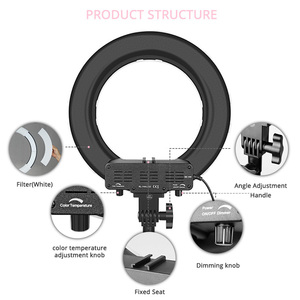 Image 4 - SAMTIAN ring light 14 inch ring lamp dimmable 384PCS LED lighting With tripod for Studio photography YouTube makeup ringlight