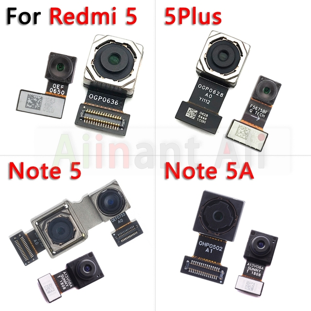 Original pour Xiaomi Redmi Note 5 5A Pro Plus petit avant et principal grand arrière caméra câble flexible
