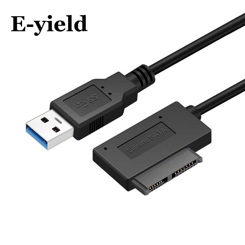 USB 3,0 zu Mini Sata II 7 + 6 13Pin Adapter Konverter Kabel für Laptop CD/DVD ROM Slimline stick