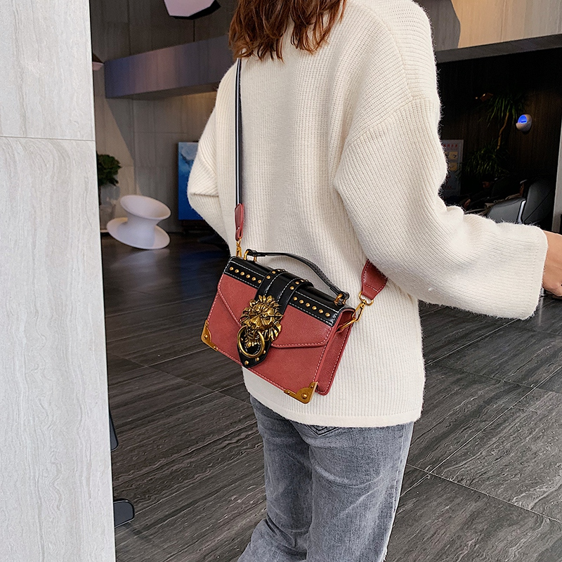 Hd18abfc8d9384af69283132f0ed1fef8Q - Female Fashion Handbags Popular Girls Crossbody Bags Totes Woman Metal Lion Head  Shoulder Purse Mini Square Messenger Bag