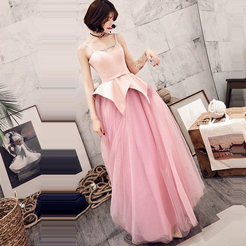 Evening Dress 2019 New Sleeveless Floor Length Robe De Soiree Backless Women Party Dresses E727 Sweetheart Elegant Formal Gowns