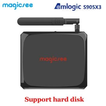 Magicsee N5 Plus Android 9.0 Amlogic S905x3 Smart Tv Box 4GB RAM 64GB ROM 2.4G+5G Wifi BT4.1 Set Top Box 8K Media Player N5 MAX фото