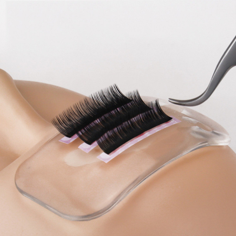 2019 Eyelash Extension Mink Lashes Planting Grafted Eyelashes Forehead Against Silicone Gasket Reuseable Health Beauty Tools in False Eyelashes from Beauty Health