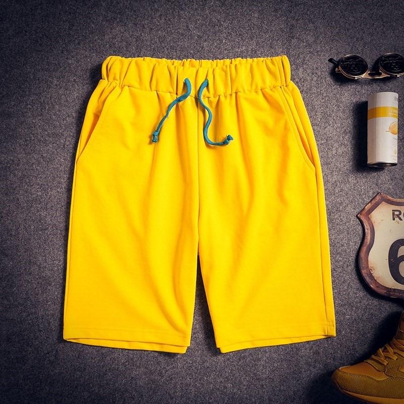 Loose Shorts Men Knee Length Casual Korean Fashion Sweatpants Thin Summer Beach Pants Stretch Waist Elastic Male Trousers KK60ND