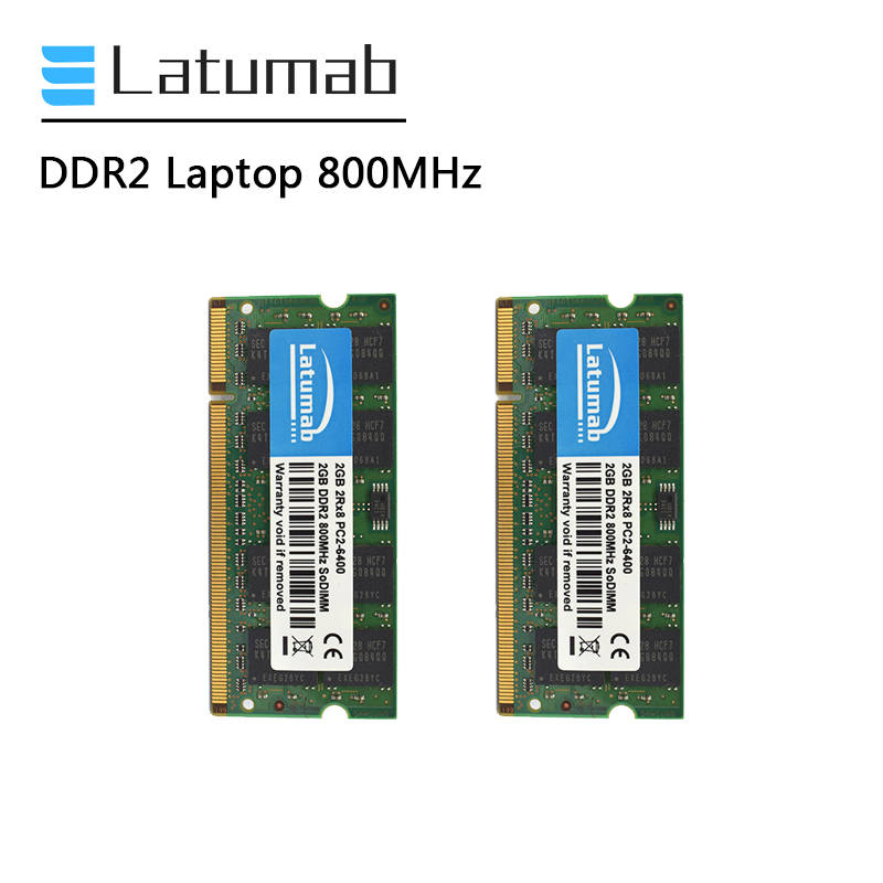 Latumab <font><b>DDR2</b></font> 1GB 2GB <font><b>4GB</b></font> RAM Laptop Memory 800MHz PC Memory PC2-16400 So Dimm RAM Notebook Memory Module image