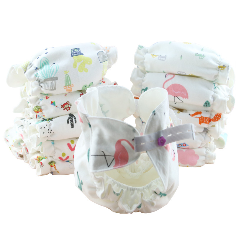Baby Detachable Diaper Cotton Soft Reusable Washable Newborn Products Infant Absorbable Diapers Cloth Diaper Adjustable Nappies