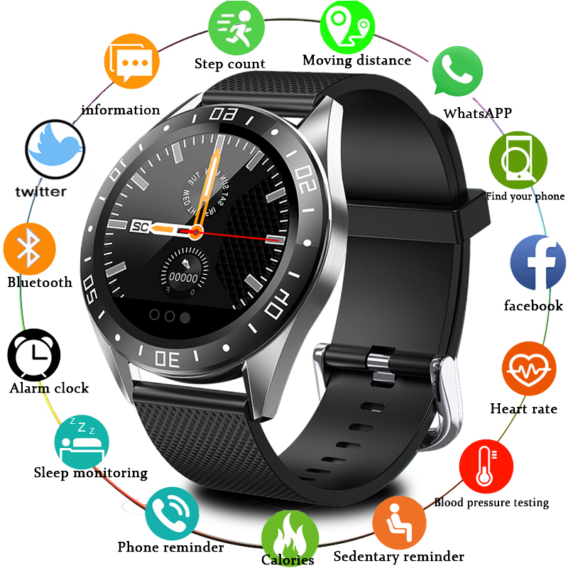 2020 New Smart Watch <font><b>GT105</b></font> Bluetooth Waterproof Heart Rate Monitor Blood Pressure <font><b>Smartwatch</b></font> Men Women Call Reminder Hot Sale image