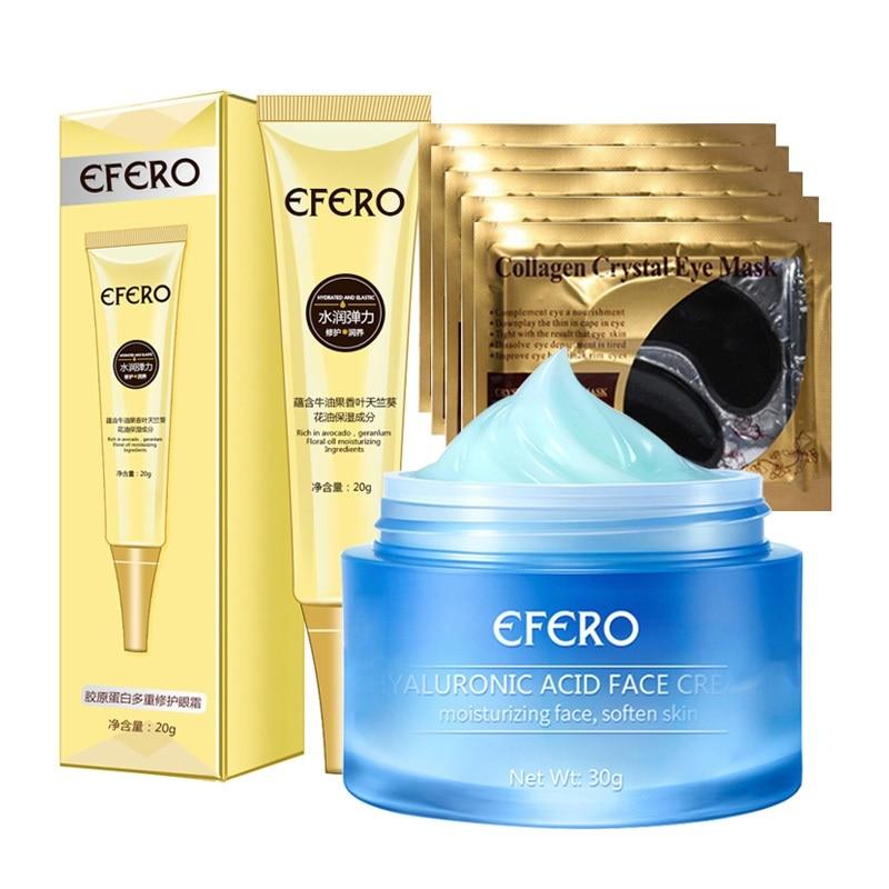 Hyaluronic Acid Face Cream Whitening Moisturizer Cream Anti Aging Anti Wrinkle Eye Cream Dark Circles Collagen Eye Masks Patch