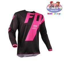 T-Shirt AM RF pour enfants, maillot de vélo, moto, Motocross, vtt, DH MX Ropa D Boys
