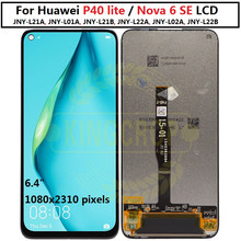 Original HUAWEI P40 Lite Lcd Display Screen For HUAWEI P40 Lite Screen Nova 6 SE JNY AL10 JNY L21A LCD p40lite lcd with frame