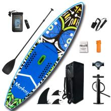 FunWater 11' Inflatable SUP Stand Up Paddle Board with Accessories Carry Bag Bottom Fins for Paddling Surf Control Non-Slip Deck