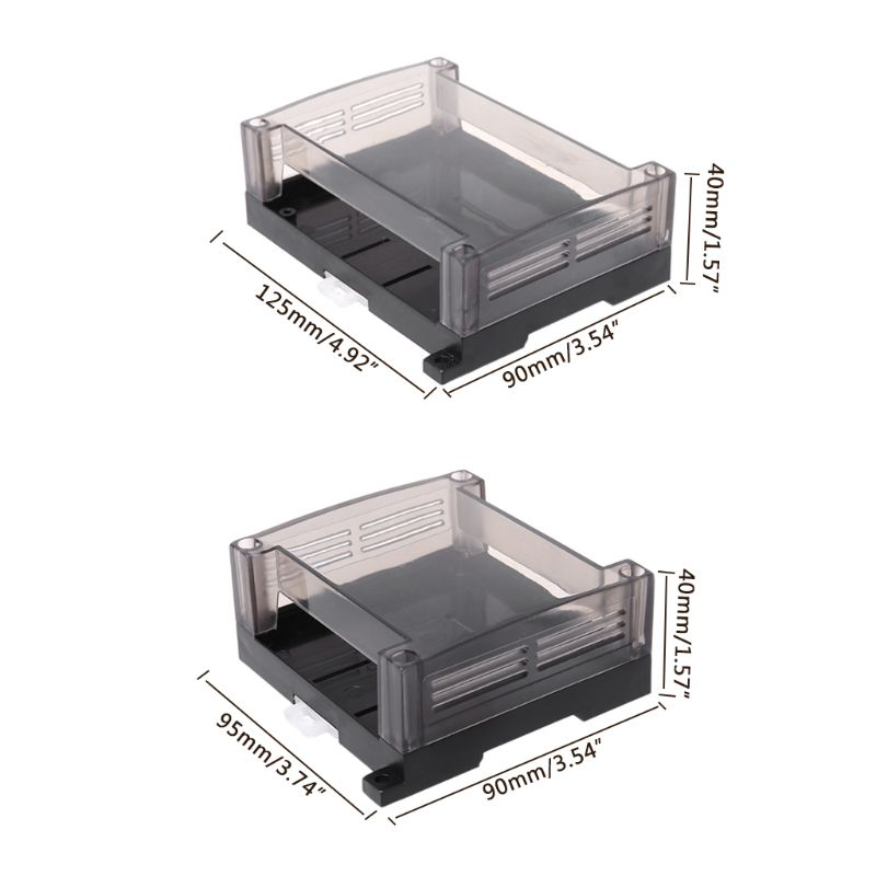 €1.76 29% OFF|1pc Transparent Plastic Industrial Control Box Panel Enclosure Case Din Rail Project Electronic DIY PCB Shell|Wire Junction Boxes| |  - AliExpress