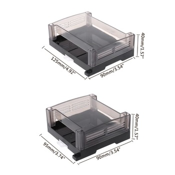 1pc Transparent Plastic Industrial Control Box Panel Enclosure Case Din Rail Project Electronic DIY PCB Shell 2pcs aluminum alloy pcb instrument shell electric plate wall mounting enclosure project box diy 122x44x160mm new