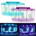 Mini piscina ecossistema aquário aquário tanque de peixes aquário led divisor de luz filtro de água perfeito para pequenos peixes dropshipping #35