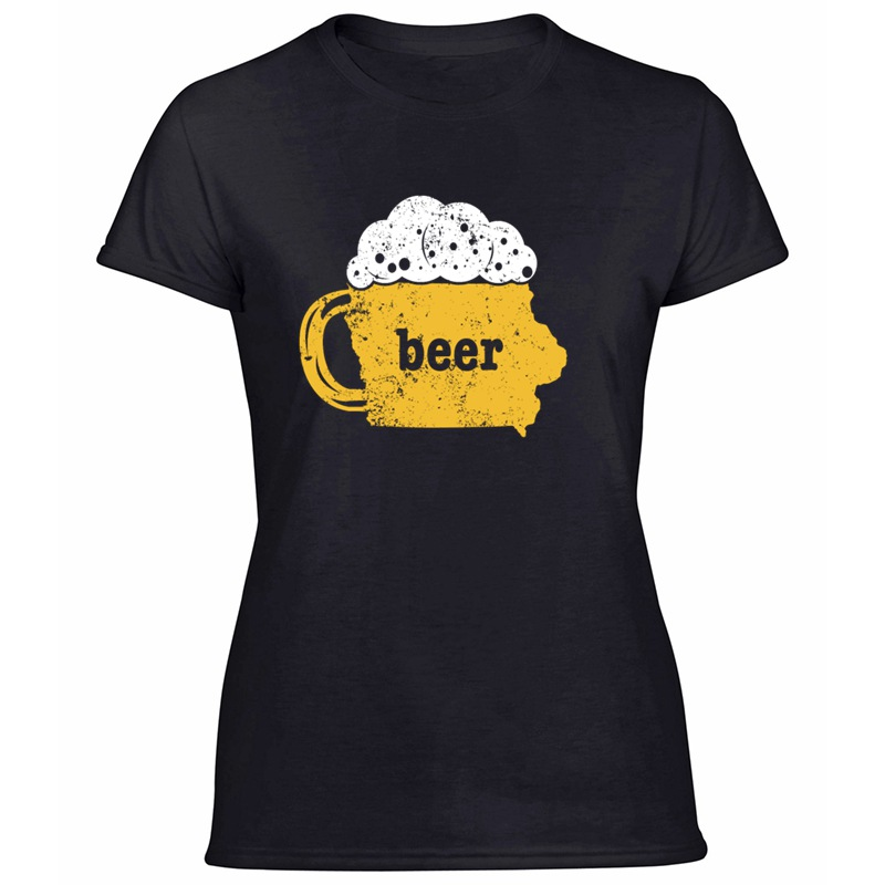 Home Brew Beer Pong <font><b>Iowa</b></font> Funny Beer Apparel Craft T <font><b>Shirt</b></font> For Women Natural Anti-Wrinkle Adult T <font><b>Shirts</b></font> Short-Sleeve Top Quality image