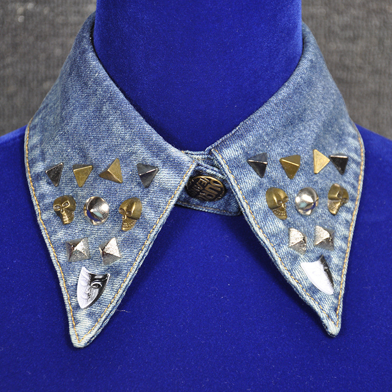 Popular New Style Denim Fashion All Over Collar Sweater Decoration Collar