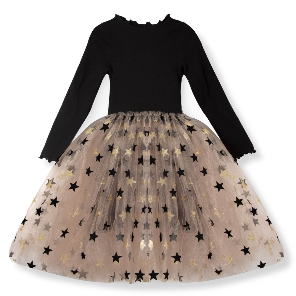 Toddler Kids Girls Clothes Long Sleeve Party Princess Tutu Prom Dress Autumn 3-8