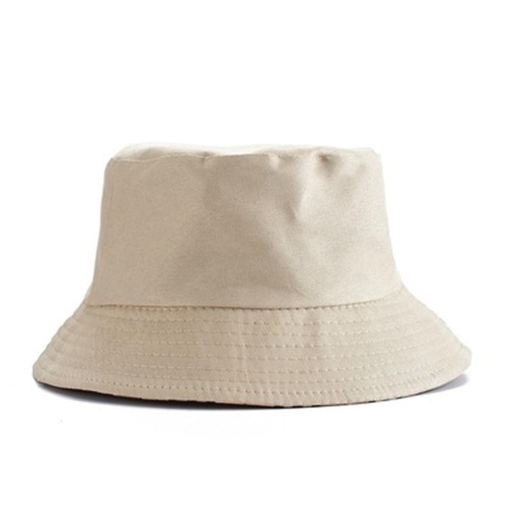 Korean Candy Color Fisherman Hat For Women Men DIY Portable Folding Hat Spring Summer Fashion Outdoor Sunshade Hat White Red