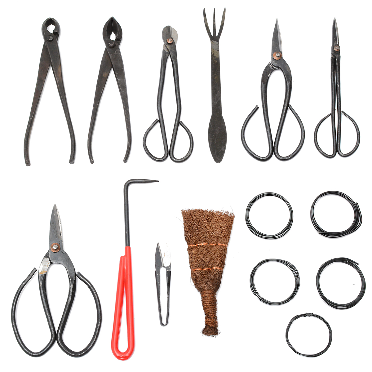 10Pcs Garden Pruning Shear Bonsai Tool Set Carbon Steel Extensive Cutter Scissors Kit With Nylon Case Mayitr