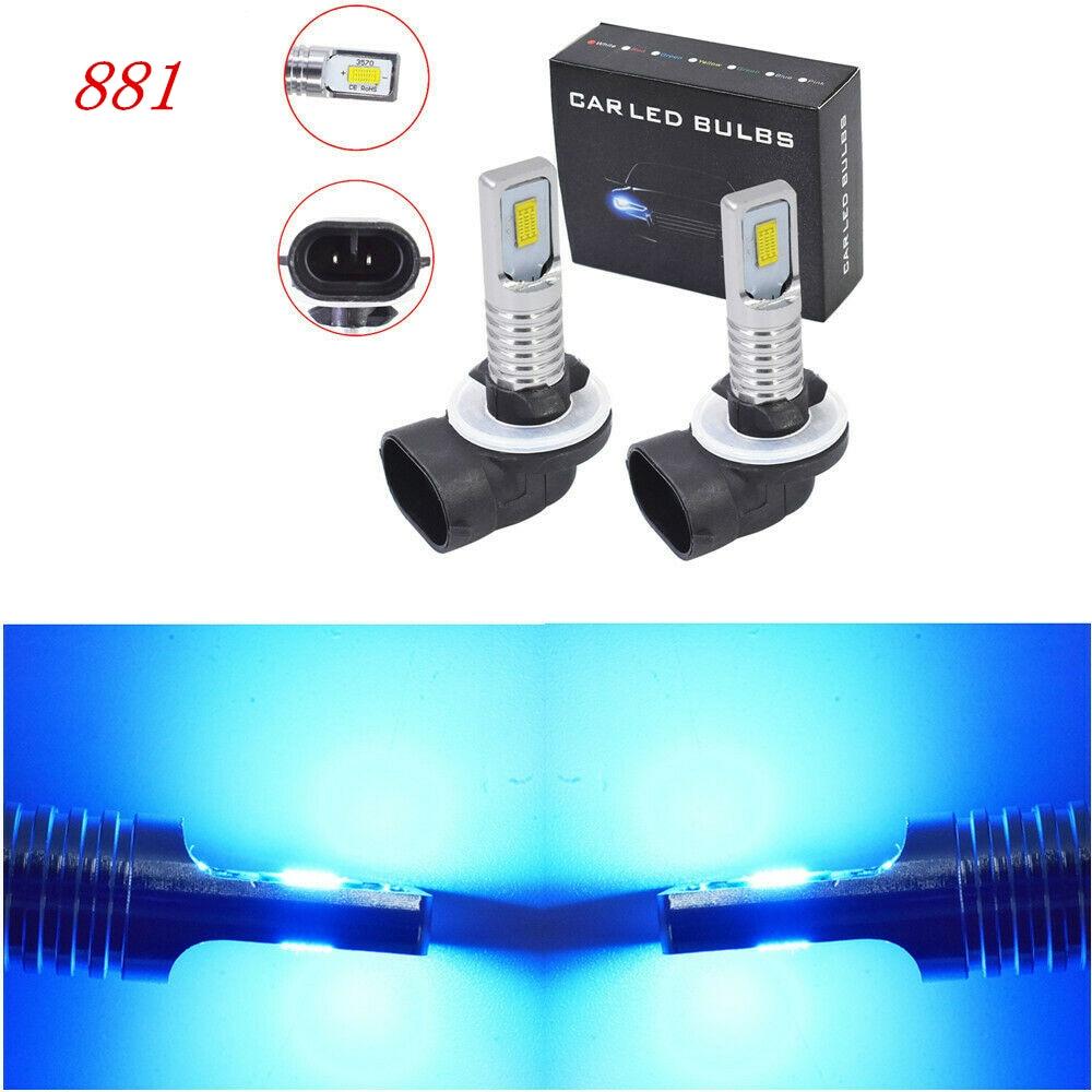 1 пара Горячая Распродажа 881 886 889 894 898 светодиодный туман светильник лампы Комплект яркая 35 Вт 4000LM 8000 К Ice Blue