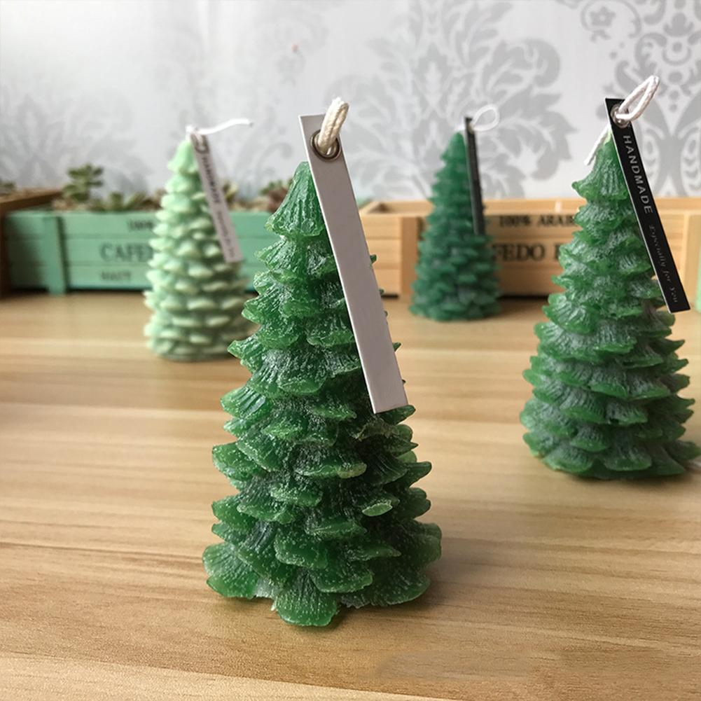 Christmas Tree Candle Silicone Mould Christmas Cedar Fondant DIY Aromatherapy Candle Mould Handmade Soap Mould Silicone Mold