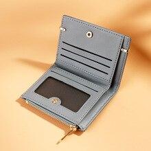 Маленький кожаный кошелек для женщин, винтажные женские кошельки, роскошные брендовые кошельки, дизайнерский кошелек, Женский держатель для карт, для монет, короткие, Carteira