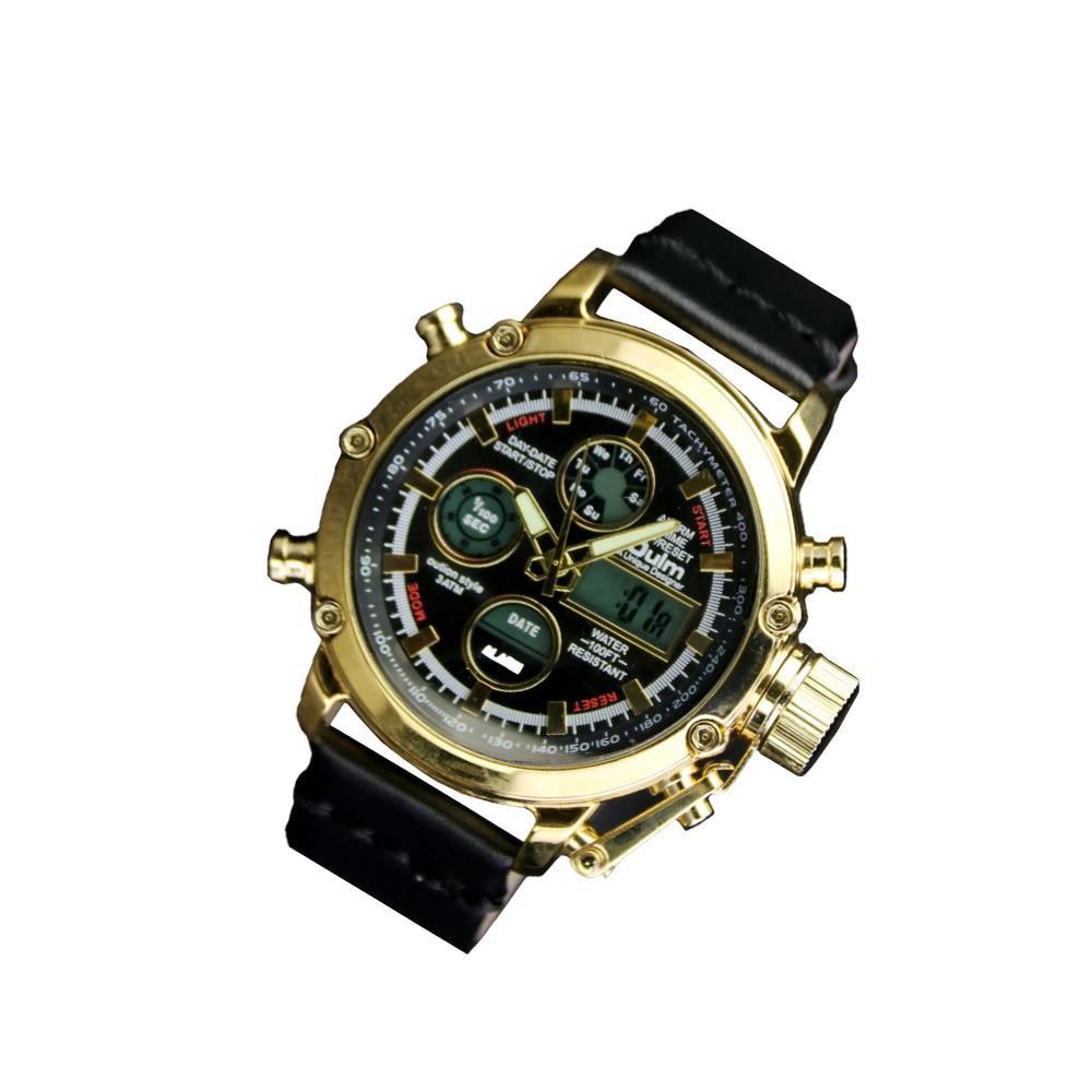 2019 Steampunk Watch Men Alloy Leather Strap Men Retro Fashion Prop Chronograph Watches Original Wristwatch of Brassy Movements