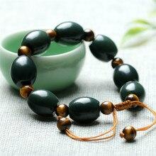Drop Ship Natural Xinjiang Hetian Bead Bracelet With Tiger Eye Beads Stretch