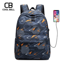 USB Charger Lightning Printing Backpack School Bags For Teenager Boys Girls Bag Waterproof Nylon Travel Backpack School Kids Bag oxford waterproof army green backpack male usb charger school backpack for girls travel laptop backpack school bags for boys bag