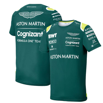 Hot Selling 2021-F1 Aston Martin Racing Short Sleeve Formula One Men's Jersey Extreme Sports Lovers Casual Fashion T-shirt