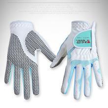 1 para Anti-poślizgowe kobiety rękawice golfowe sportowe na świeżym powietrzu dwie ręce granulki ściereczka z mikrofibry oddychająca miękka rower jazda na rowerze rękawice tanie tanio Tkaniny WOMEN CN (pochodzenie) Golf Gloves Cycling Gloves Super fiber cloth as picture