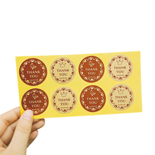 80pcs/lot Thank you Retro Round Kraft Paper Adhesive Decorative Sticker DIY Sealing Package Label For Baking Products