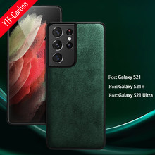 YTF-carbon For Samsung Galaxy S21 Ultra Case Alcantara artificial Leather Phone cover Note 20/S20 PLUS /S21+ real Suede Shell