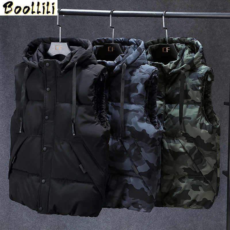 ผู้ชายฤดูหนาว PLUS ขนาด 7XL 8XL Parka เสื้อกั๊ก Waistcoat แจ็คเก็ต camouflage เสื้อแขนกุด WARM Parka แจ็คเก็ตเสื้อกั๊กผู้ชาย