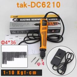 Wkrętak elektryczny Dirll DC6210 narzędzia ręczne Torque 0-10kgs heavy duty 110 V-220 V wiertarka elektryczna + 36 sztuk zestaw wkrętaków