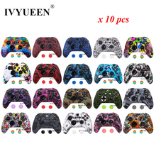 IVYUEEN 10 pcs Silicone Protective Skin for XBox One X S Slim Controller Protector Case Cover with Thumb Stick Grips Caps