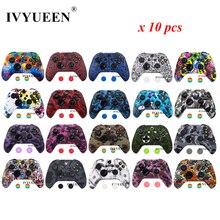 Ivyueen 10 Pcs Silicone Beschermende Huid Voor Xbox One X S Slim Controller Protector Case Cover Met Thumb Stick Grips caps